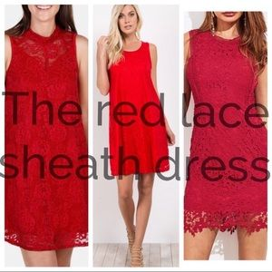 Spense 🔥 Red Flame 🔥 Flapper-Style Sheath Dress